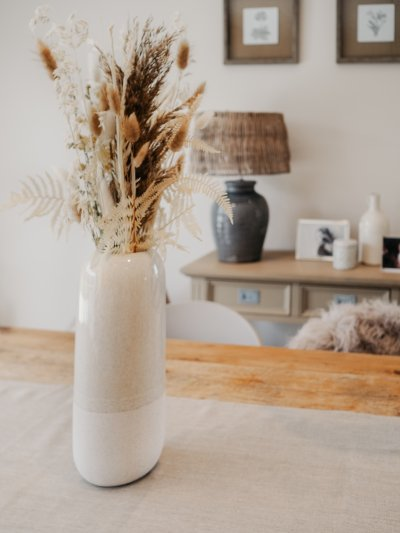 Homestyling, Interior, Country Concept, Luxemburg, Deko, Dekoration, clean, scandinavian, deco, Vase, Pampasgras, Details